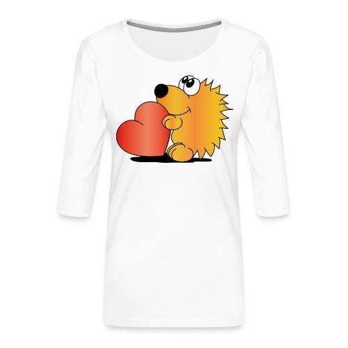 Igelchen - Frauen Premium 3/4-Arm Shirt