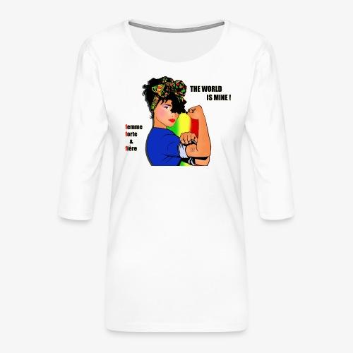 111584724 160780315 F F F - Women's Premium 3/4-Sleeve T-Shirt