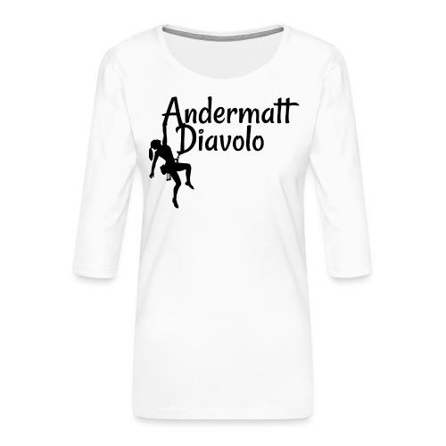 Andermatt Diavolo Uri Geschenkidee - Frauen Premium 3/4-Arm Shirt