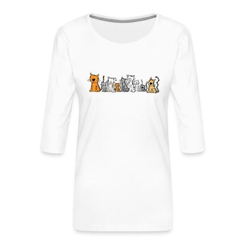Cats & Cats - Vrouwen premium shirt 3/4-mouw