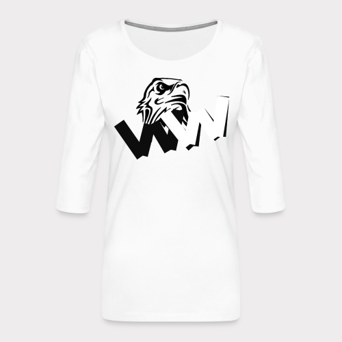 White and Black W with eagle - Women's Premium 3/4-Sleeve T-Shirt