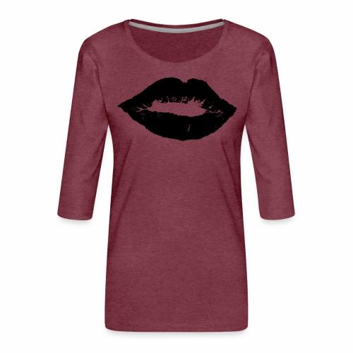 Kussmund - Frauen Premium 3/4-Arm Shirt