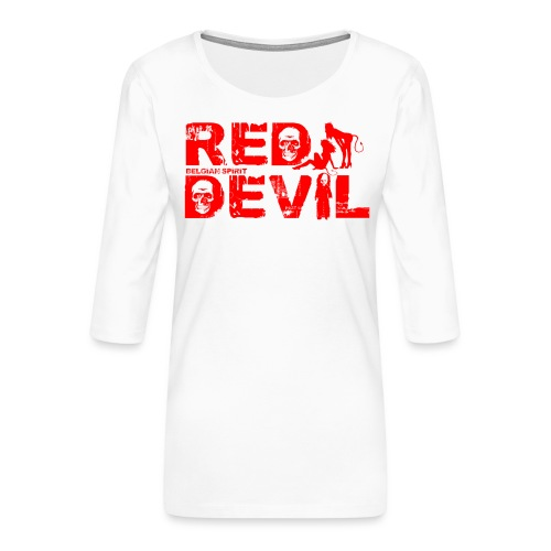 BELGIAN-RED-DEVIL - T-shirt Premium manches 3/4 Femme