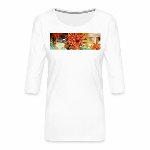 Koronawirus, Coronavirus - Koszulka damska Premium z rękawem 3/4