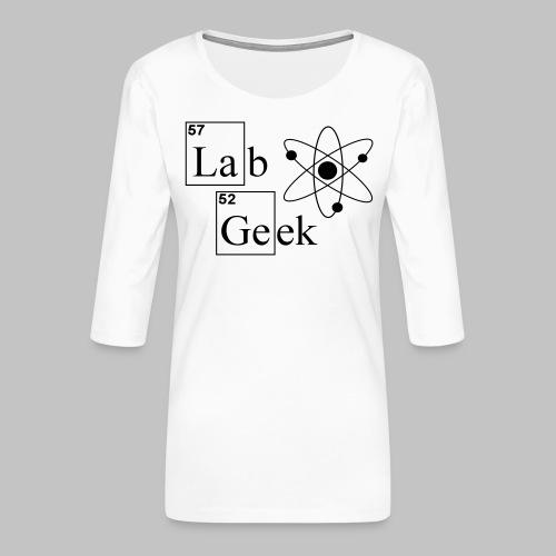 Lab Geek Atom - Women's Premium 3/4-Sleeve T-Shirt
