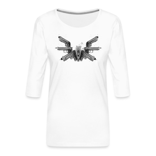 guns wings.png - T-shirt Premium manches 3/4 Femme