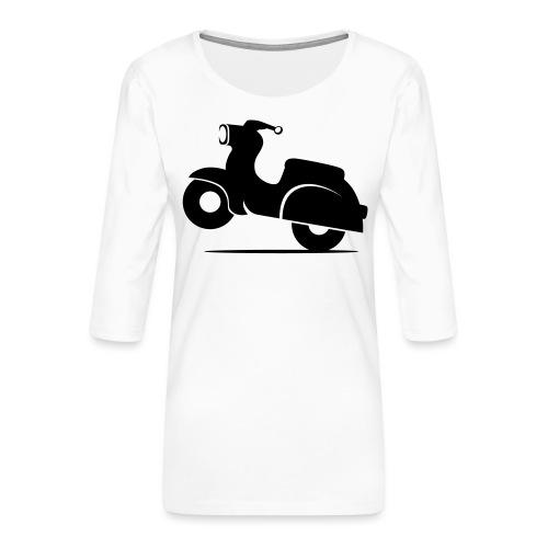 Schwalbe knautschig - Frauen Premium 3/4-Arm Shirt
