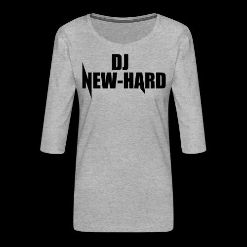 DJ NEW-HARD LOGO - Vrouwen premium shirt 3/4-mouw