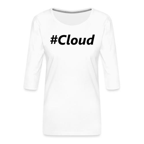 #Cloud black - Frauen Premium 3/4-Arm Shirt