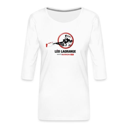 Léo Lagrange Nantes Aviron - T-shirt Premium manches 3/4 Femme