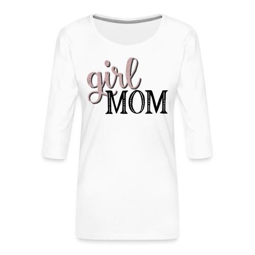 Schriftzug Girl Mom - Frauen Premium 3/4-Arm Shirt