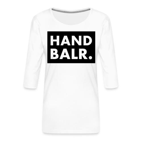 Handbalr Wit - Vrouwen premium shirt 3/4-mouw