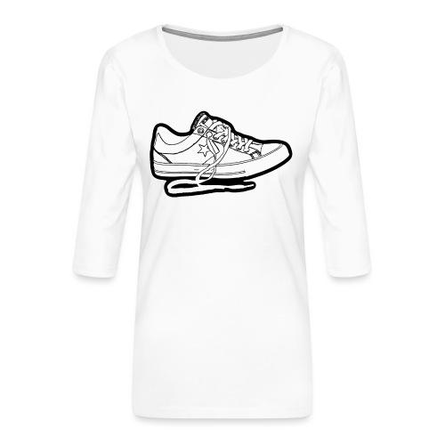 Sneaker - Premium-T-shirt med 3/4-ärm dam