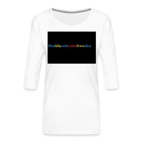 DualdnoobextraSwedens Mugg - Premium-T-shirt med 3/4-ärm dam
