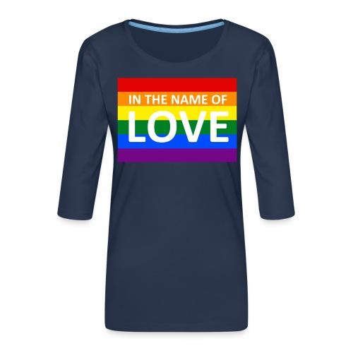 IN THE NAME OF LOVE RETRO T-SHIRT - Dame Premium shirt med 3/4-ærmer