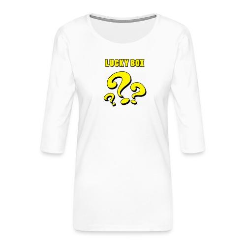 Lucky Box - Premium-T-shirt med 3/4-ärm dam