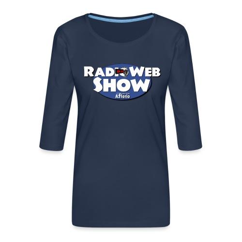 Logo RadioWebShow - Maglietta da donna premium con manica a 3/4