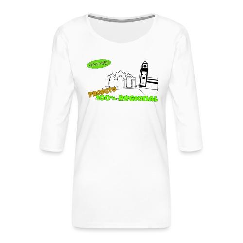 City Gates - Women's Premium 3/4-Sleeve T-Shirt