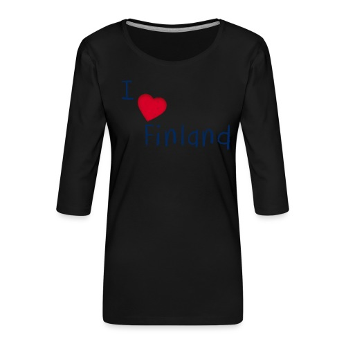 I Love Finland - Naisten premium 3/4-hihainen paita
