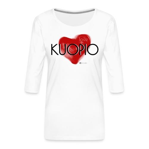 Love Kuopio teksti keskellä - Naisten premium 3/4-hihainen paita