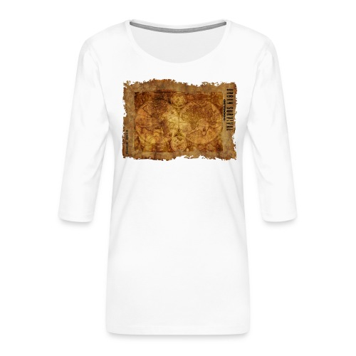 map of the world 2241469 1920 - Frauen Premium 3/4-Arm Shirt