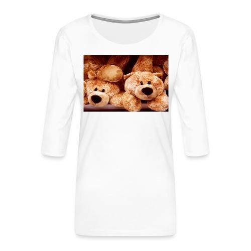 Glücksbären - Frauen Premium 3/4-Arm Shirt
