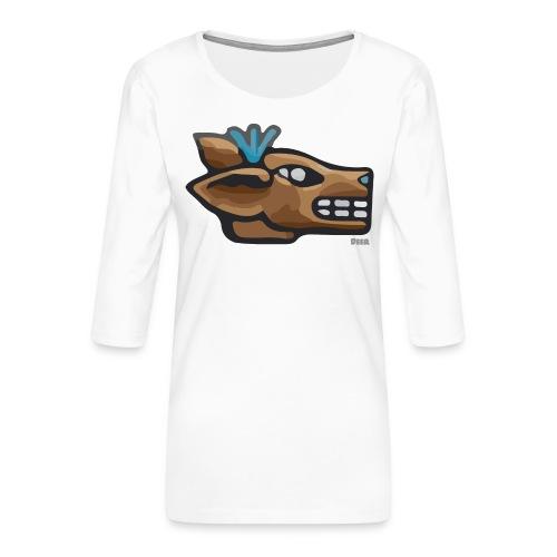Aztec Icon Deer - Women's Premium 3/4-Sleeve T-Shirt