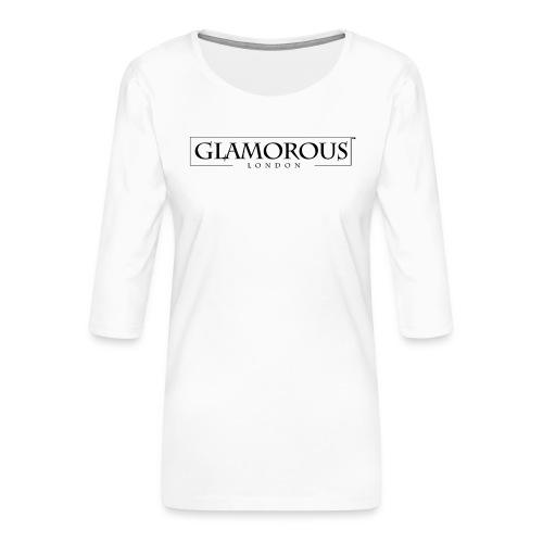 Glamorous London LOGO - Women's Premium 3/4-Sleeve T-Shirt