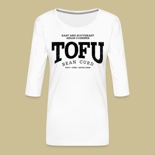 Tofu (black oldstyle) - Frauen Premium 3/4-Arm Shirt