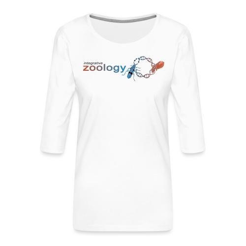 Integrative Zoology Department Logo (bright) - Women's Premium 3/4-Sleeve T-Shirt