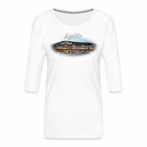 Agadir, Morocco - Women's Premium 3/4-Sleeve T-Shirt