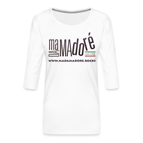 Sacca - Logo Standard + Sito - Maglietta da donna premium con manica a 3/4