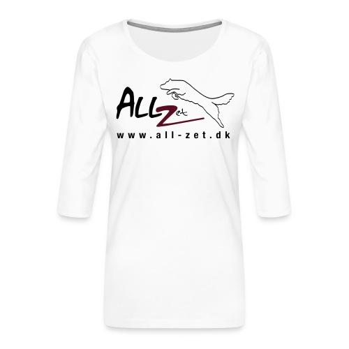 All Zet Logo - Dame Premium shirt med 3/4-ærmer