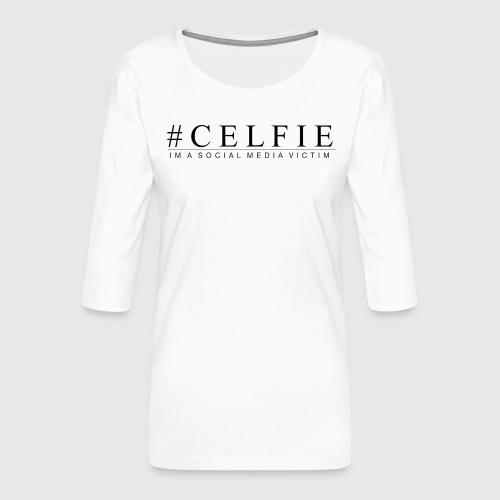 CELFIE - Dame Premium shirt med 3/4-ærmer