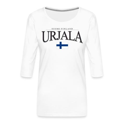 Suomipaita - Urjala Suomi Finland - Naisten premium 3/4-hihainen paita