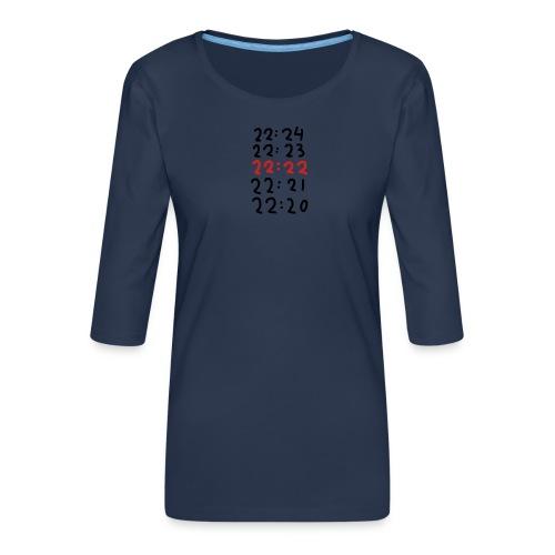 Wacht op de tijd - Vrouwen premium shirt 3/4-mouw