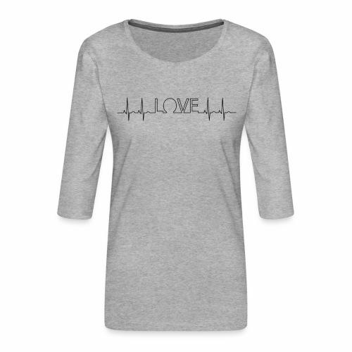 Liebe Herzschlag - Frauen Premium 3/4-Arm Shirt
