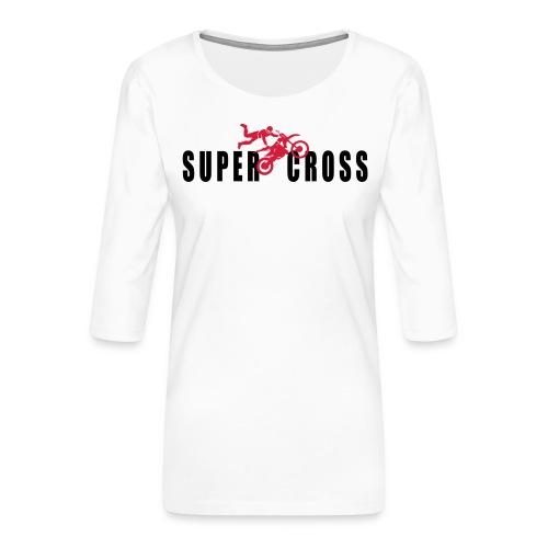 air Supercross - T-shirt Premium manches 3/4 Femme