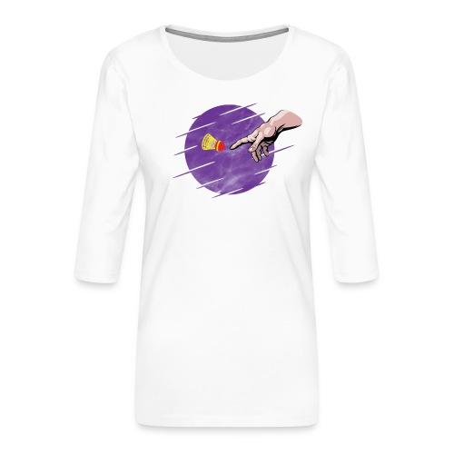 Le speedminton est une création divine! - Women's Premium 3/4-Sleeve T-Shirt
