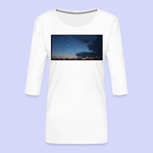 Sunset lovers - Morning tea cup - Dame Premium shirt med 3/4-ærmer
