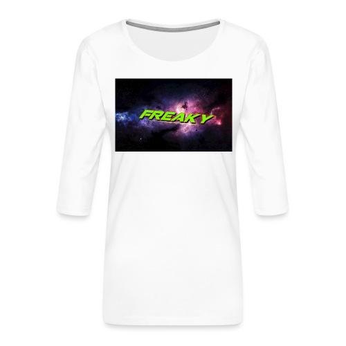 Freaky Cover_iphone - Dame Premium shirt med 3/4-ærmer