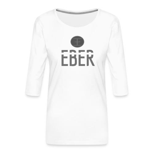 EBER: T-Shirt - Grey - Premium-T-shirt med 3/4-ärm dam