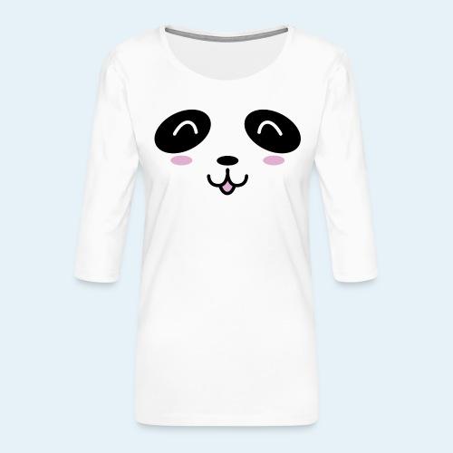 Cachorro panda (Cachorros) - Camiseta premium de manga 3/4 para mujer