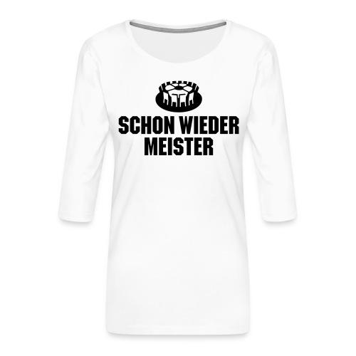 Titel, Tore, Temperamente - Frauen Premium 3/4-Arm Shirt