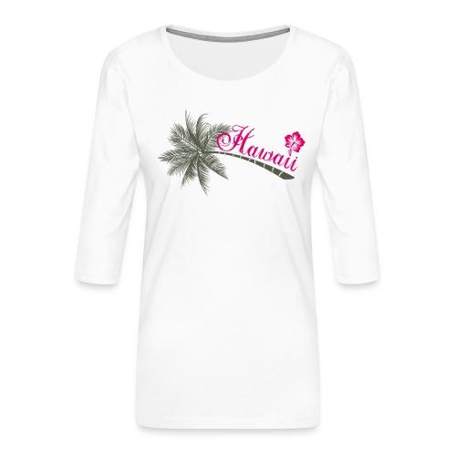 hawaii - T-shirt Premium manches 3/4 Femme