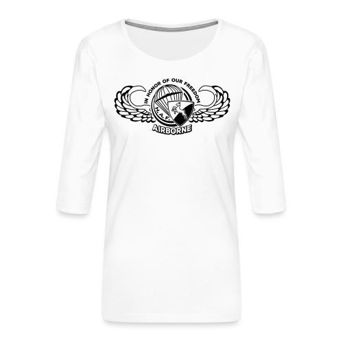 HAF tshirt back2015 - Women's Premium 3/4-Sleeve T-Shirt