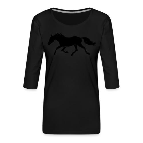 Cavallo - Maglietta da donna premium con manica a 3/4