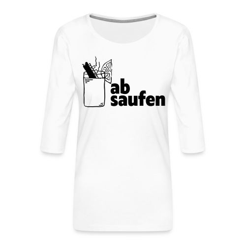 absaufen - Frauen Premium 3/4-Arm Shirt