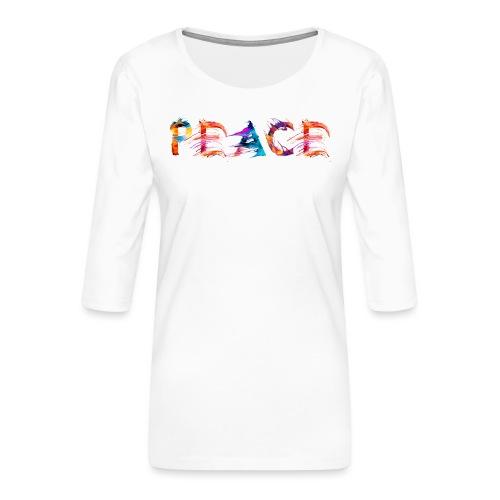 Peace - T-shirt Premium manches 3/4 Femme
