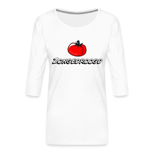 ZONGEDROOGD - Vrouwen premium shirt 3/4-mouw